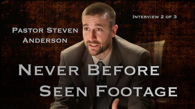 Pastor Steven Anderson Interview 2 of 3 (After the Tribulation)