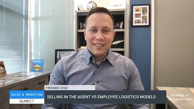Selling in the agent vs employee logistics models