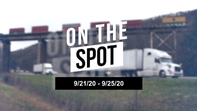 Los Angeles tightens the national trucking market - On the Spot 09/25/20