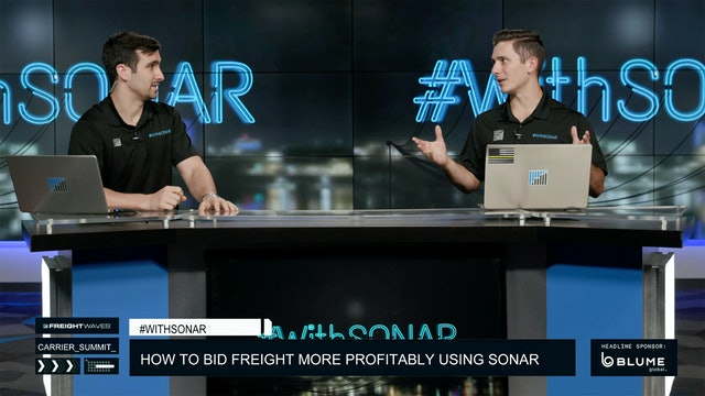 How to bid freight more profitably - #WithSONAR