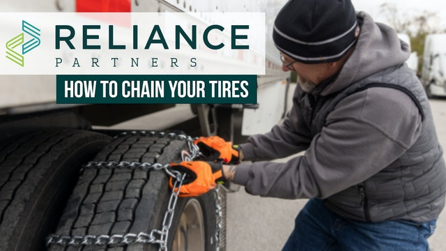 Reliance Partners: How to chain your tires