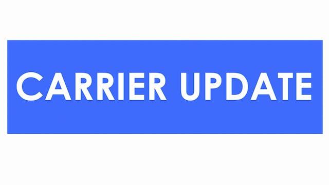 National rejections slide - Carrier U...