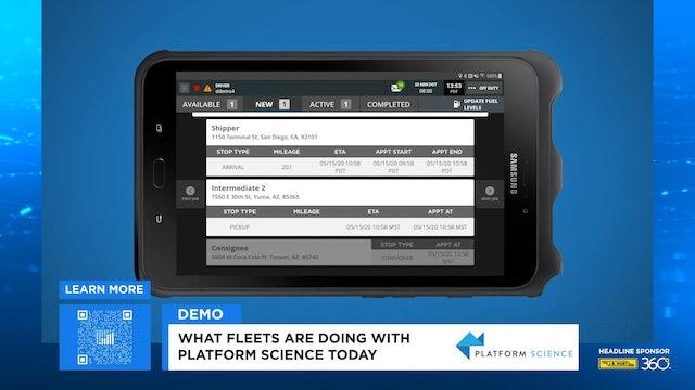 FreightWaves LIVE @ HOME Platform Science Demo