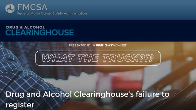 Drug and Alcohol Clearinghouse's fail...