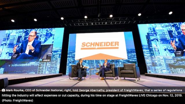 FreightWaves LIVE Chicago: Mark Rourke - Schneider