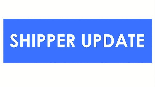 ISM updates - Shipper Update