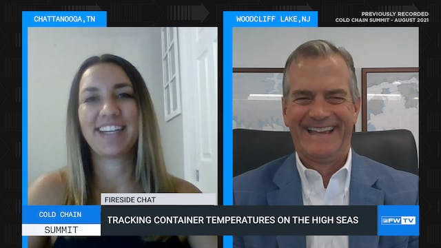 Tracking container temperatures on th...