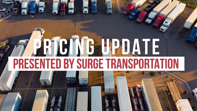 Pricing Update presented by Surge Transportation