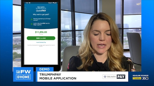 FreightWaves LIVE @ HOME TriumphPay Demo