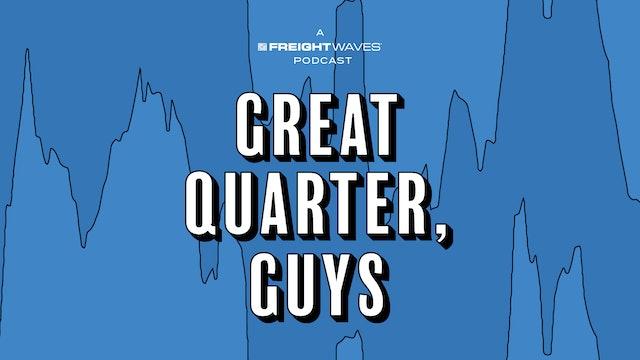 Have trucking stocks peaked? - Great Quarter, Guys