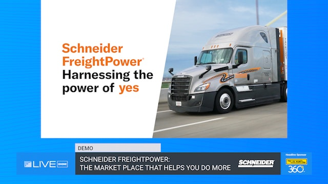Schneider FreightPower: The market place that helps you do more - Demo