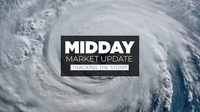 Tracking the storm - Midday Market Up...