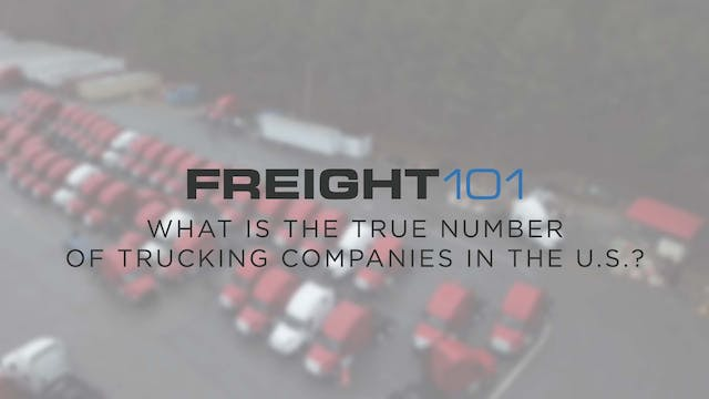 What is the true number of trucking c...