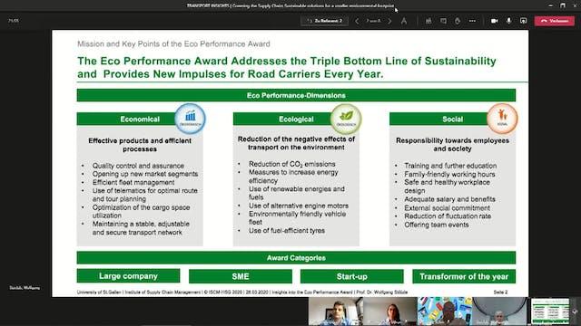 Greening the Supply Chain - Transport...