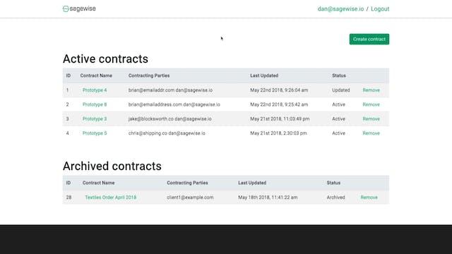 Transparency18 - Demo: Sagewise
