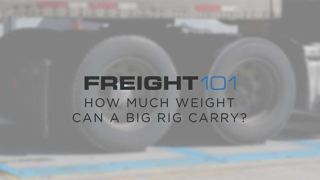 How much weight can a big rig carry? ...