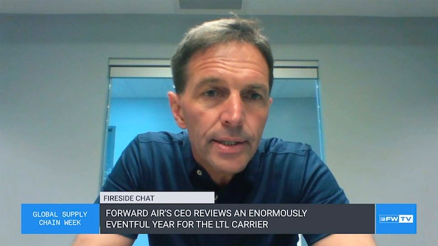 Forward Air's CEO reviews an enormously eventful year for the LTL carrier