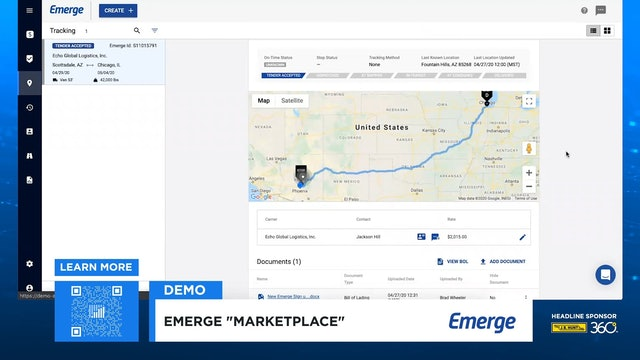 FreightWaves LIVE @ HOME Emerge Demo