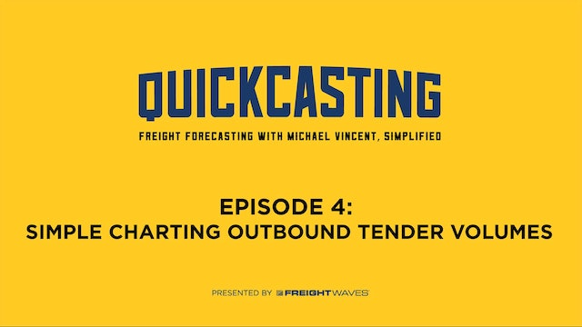 Simple Charting Outbound Tender Volumes - QuickCasting