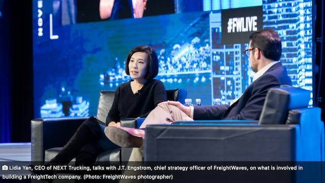 FreightWaves LIVE Chicago: Lidia Yan ...