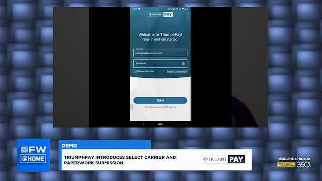 FW @ HOME: TriumphPay Demo