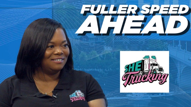 Founder of SHE Trucking Sharae Moore - Fuller Speed Ahead
