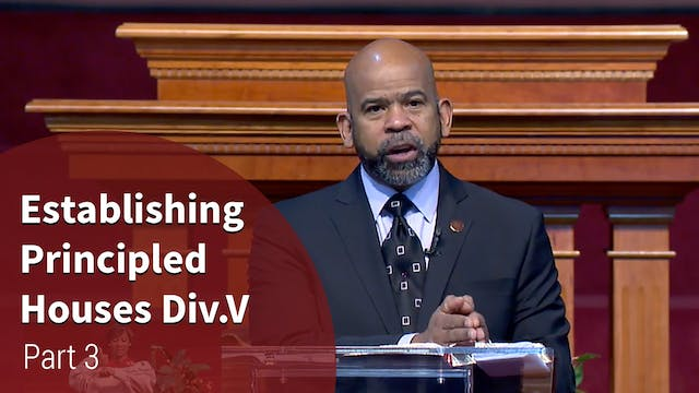 Establishing Principled Houses Div. V...