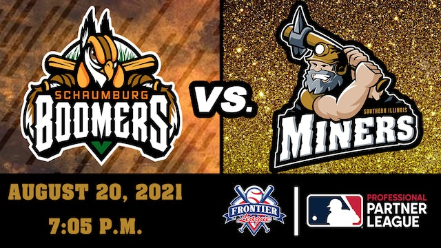 Schaumburg Boomers vs Southern Illinois Miners - August 20, 2021