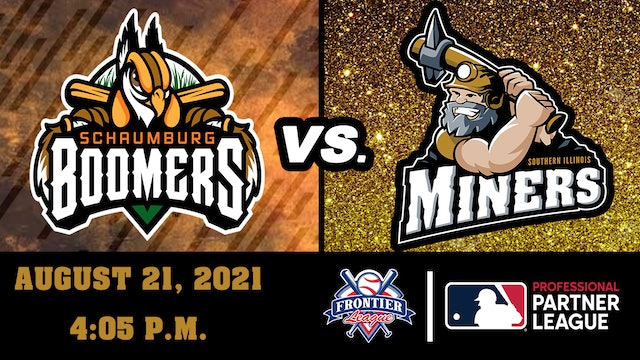 Schaumburg Boomers vs Southern Illinois Miners - August 21, 2021