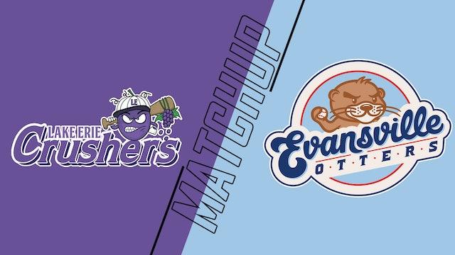 Lake Erie Crushers vs. Evansville Otters - August 15, 2021