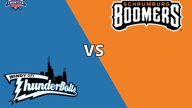 Schaumburg Boomers vs Windy City Thunderbolts 7_7_21