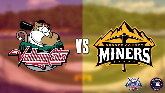 Tri-City ValleyCats @ Sussex County Miners Double Header - 7/10 @ 4:00 EDT