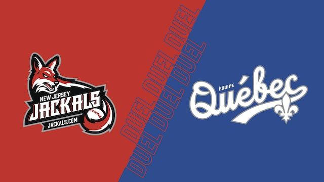 Jackals du New Jersey VS Équipe Québec au Stade Quillorama - 19 aout 2021@19h05