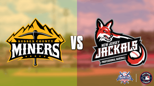 Sussex County Miners @ New Jersey Jackals - 7/13 @ 5:05pm EDT