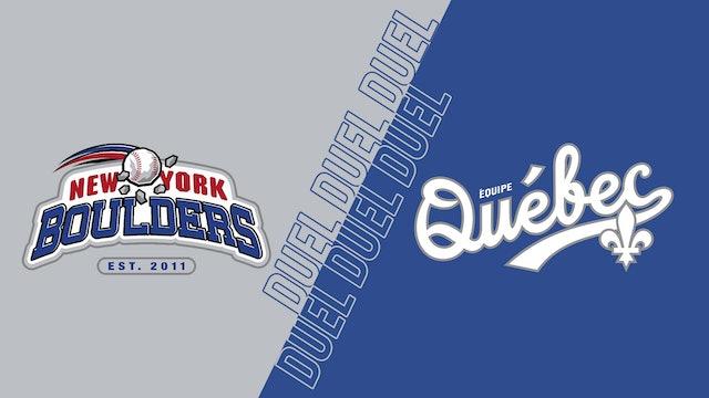 Boulders de New York VS Équipe Québec au Stade Quillorama - 9 sept 2021@19h05