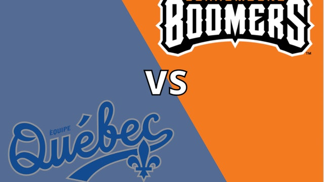 Schaumburg Boomers vs Équipe Québec 8_12_21