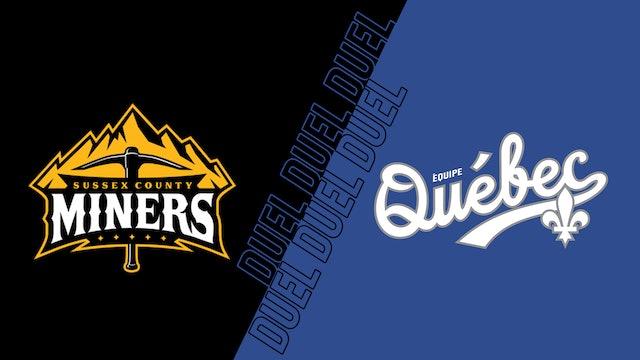 Équipe Québec c. Miners de Sussex County - 31 août 2021