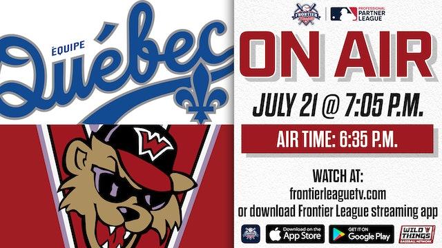 Équipe Québec @ Washington - 7/21 - 7:05 p.m.