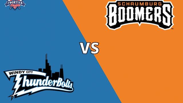Schaumburg Boomers vs Windy City Thunderbolts 7_8_21