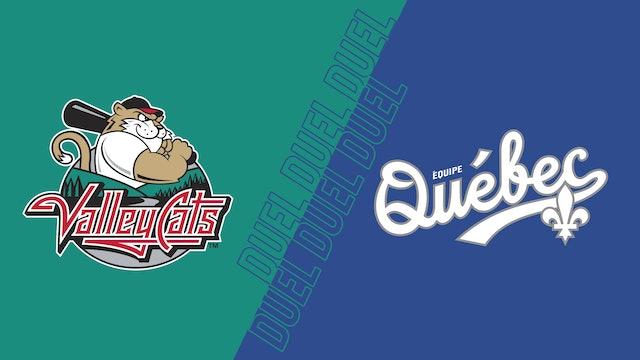 ValleyCats de Tri-City VS Équipe Québec au Stade Quillorama - 4 aout 2021@19h05