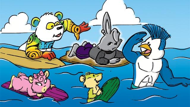Blue Penguin and the Sensational Surf