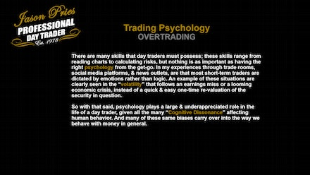 Jason Pries - Professional Day Trader Video