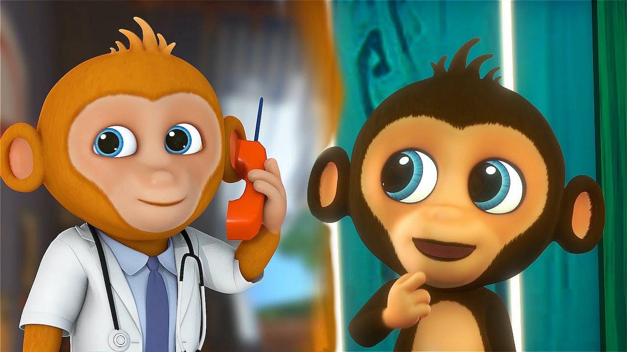 5 Little Monkeys 3D version