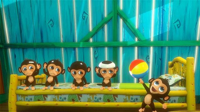 5 Little Monkeys 3D