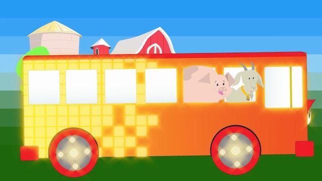 The Wheels on the Bus Farm Animals