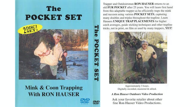 Pocket Set Mink & Coon Trapping-Ron Hauser 3 hrs
