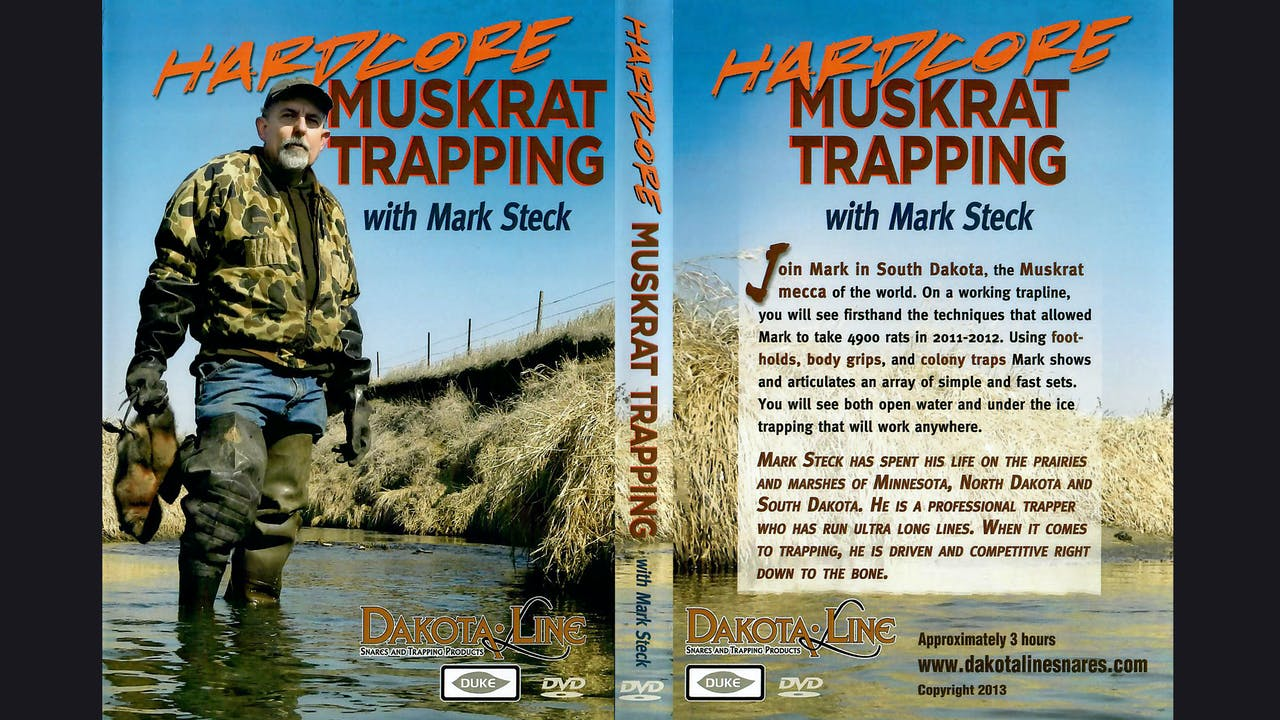 HARDCORE Muskrat Trapping with Mark Steck 3 hrs
