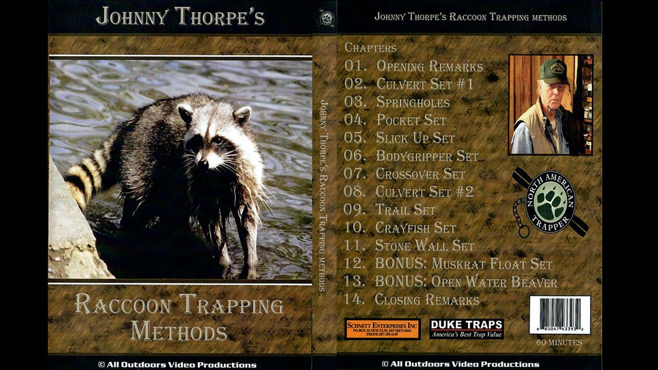Raccoon Trapping Methods - Johnny Thorpe