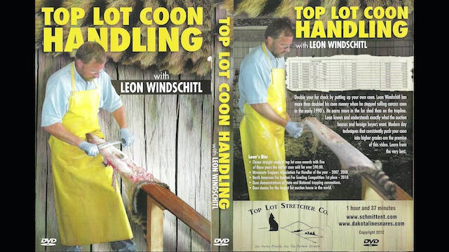 Top Lot Coon Handling With Leon Windschitl 1.5 hrs