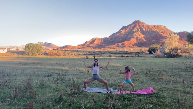 FWRD on the Road:10-minute Barre Thigh Sequence in Zion